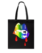 Rainbow Vampire Lips Biting Shirt LGBT Pride  thumb
