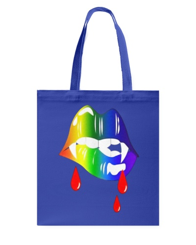 Rainbow Vampire Lips Biting Shirt LGBT Pride