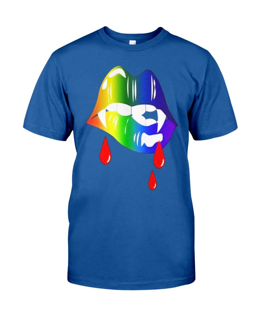 Rainbow Vampire Lips Biting Shirt LGBT Pride Classic T-Shirt showcase