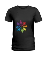 Peace for LGBT Pride Month Ladies T-Shirt thumbnail