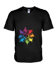 Peace for LGBT Pride Month V-Neck T-Shirt thumbnail