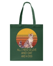 All I Need Is Love And Cat And A Dog Vintage Tote Bag thumbnail