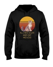 All I Need Is Love And Cat And A Dog Vintage Hooded Sweatshirt thumbnail