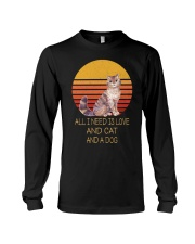 All I Need Is Love And Cat And A Dog Vintage Long Sleeve Tee thumbnail