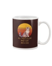 All I Need Is Love And Cat And A Dog Vintage Mug thumbnail