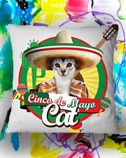 Cats - Cinco De Mayo Square Pillowcase aos-pillow-square-front-lifestyle-17
