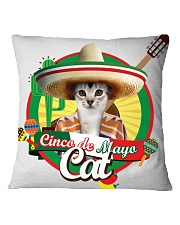 Cats - Cinco De Mayo Square Pillowcase thumbnail