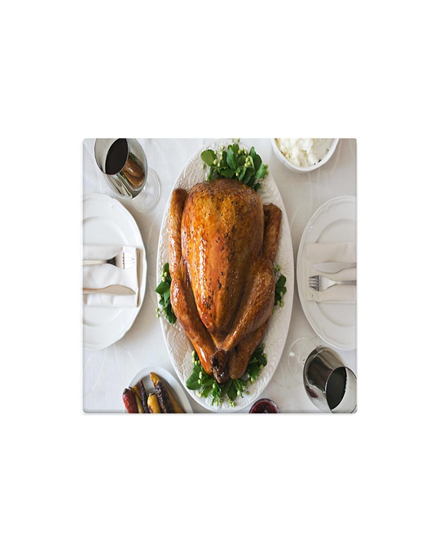 Turkey Dinner Square Magnet