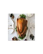 Turkey Dinner Square Magnet front