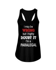 Paralegal I May Be Wrong Job Gift Ladies Flowy Tank thumbnail