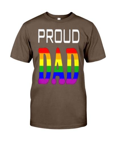 Proud Dad Parents Lgbt Pride T Shirt