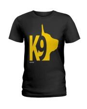 DM WEAR K9 shepherd dog handler Ladies T-Shirt thumbnail
