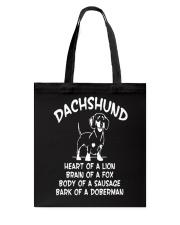 Dachshund Doxie Wiener Dog Tote Bag thumbnail