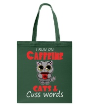 I Run On Caffeine Cats Cuss Words Cat Tote Bag thumbnail
