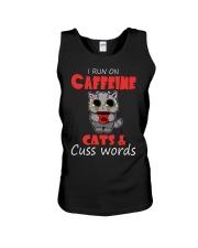 I Run On Caffeine Cats Cuss Words Cat Unisex Tank thumbnail