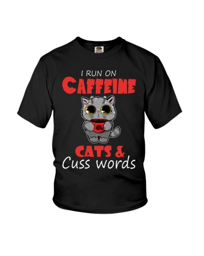 I Run On Caffeine Cats Cuss Words Cat