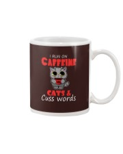 I Run On Caffeine Cats Cuss Words Cat Mug thumbnail