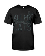 All My Friends Are Cats Classic T-Shirt thumbnail