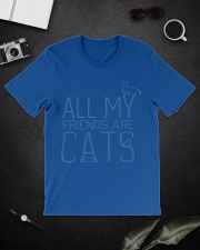 All My Friends Are Cats Classic T-Shirt lifestyle-mens-crewneck-front-16