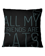 All My Friends Are Cats Square Pillowcase thumbnail