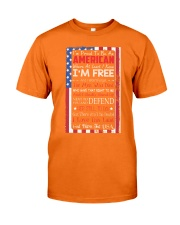 Happy 4th of July - I'm Proud To Be An American Classic T-Shirt front