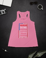 Happy 4th of July - I'm Proud To Be An American Ladies Flowy Tank lifestyle-bellaflowy-tank-front-4
