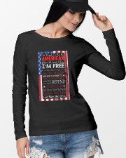 Happy 4th of July - I'm Proud To Be An American Long Sleeve Tee lifestyle-unisex-longsleeve-front-4