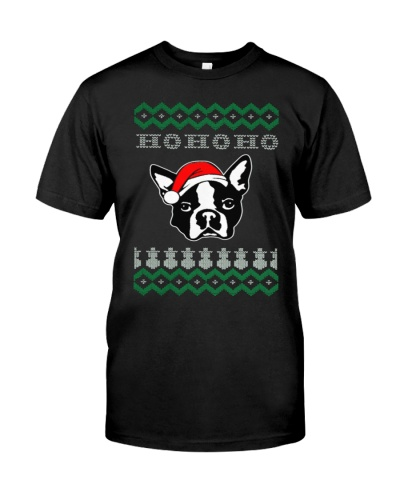 Boston Terrier Dog Ugly Christmas
