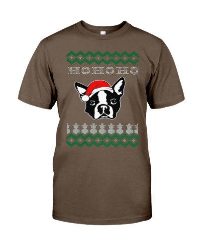 Boston Terrier Dog Ugly Christmas