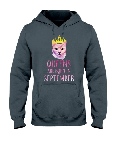 September Queens Cat Are Born In T Shirt Hoodie