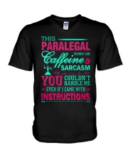 PARALEGAL- You Couldnt Handle Me V-Neck T-Shirt thumbnail