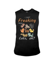 I Just Freaking Love Cats OK Cat Sleeveless Tee thumbnail