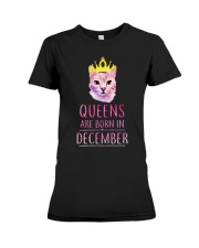 December Queens Cat Are Born In  Premium Fit Ladies Tee thumbnail