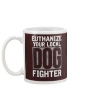 End Dog Fighting Ts and More Mug back