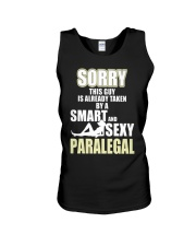 SORRY SEXY PARALEGAL Unisex Tank tile