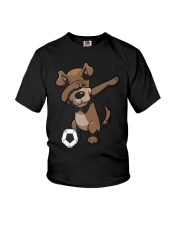 Dabbing Dog Soccer Dab Shirt  thumb