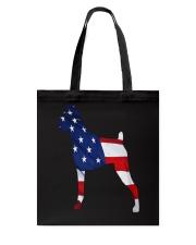 Patriotic Boxer Tote Bag thumbnail