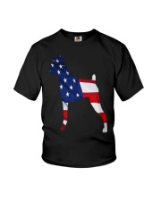 Patriotic Boxer Youth T-Shirt thumbnail
