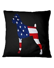 Patriotic Boxer Square Pillowcase thumbnail
