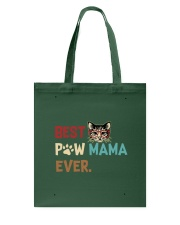Cat Paw T Shirt Best Paw Mama Ever Tote Bag thumbnail