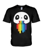 Panda LGBT Pride 1 V-Neck T-Shirt thumbnail