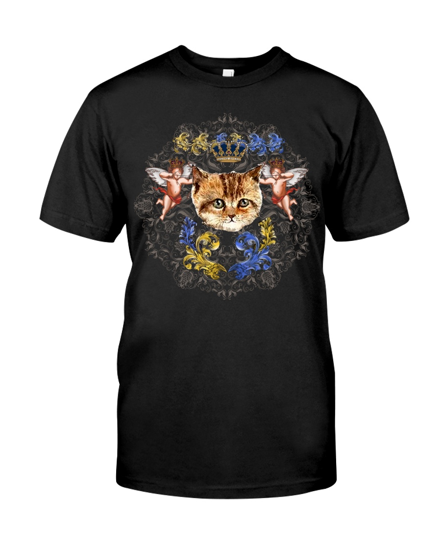 Cats With Angel Shirt Crown Vintage Style  Classic T-Shirt