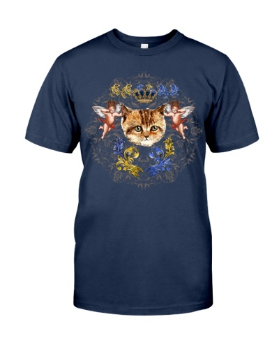 Cats With Angel Shirt Crown Vintage Style