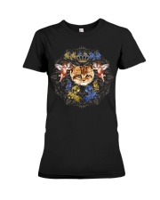 Cats With Angel Shirt Crown Vintage Style  Premium Fit Ladies Tee thumbnail