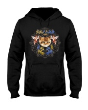 Cats With Angel Shirt Crown Vintage Style  Hooded Sweatshirt thumbnail