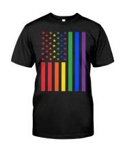 LGBT Rainbow LGBT Pride Gay Lesbian Bi T Classic T-Shirt thumbnail