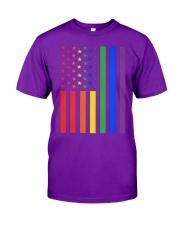 LGBT Rainbow LGBT Pride Gay Lesbian Bi T Classic T-Shirt front