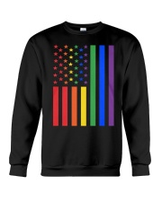 LGBT Rainbow LGBT Pride Gay Lesbian Bi T Crewneck Sweatshirt thumbnail