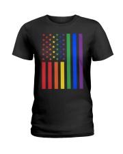LGBT Rainbow LGBT Pride Gay Lesbian Bi T Ladies T-Shirt thumbnail