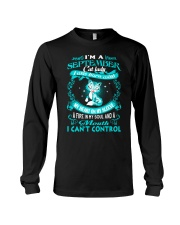 I Am A September Cat Lady Cat    Long Sleeve Tee tile